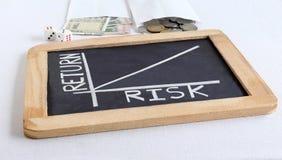 Риск и отношение возвращения выделенное диаграммой Стоковые Изображения