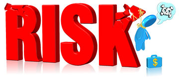 риск облечения Стоковое Фото