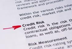 Риск при предоставлении кредита Стоковое фото RF