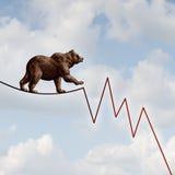 Риск рынка с понижательной тенденцией Стоковая Фотография RF