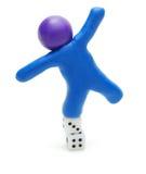 риск человека азартной игры Стоковые Изображения RF