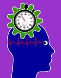 Риск для здоровья через стресс Стоковое Изображение