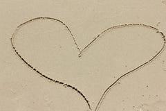 Рисовать в песке Стоковая Фотография RF
