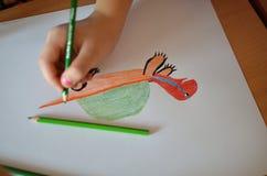 Рисовать в школе Стоковые Фотографии RF