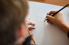 Рисовать в школе Стоковое Фото