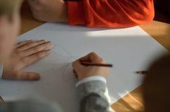 Рисовать в школе Стоковое Изображение