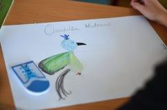 Рисовать в школе Стоковые Фото