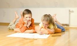 рисовать детей Стоковое Изображение RF