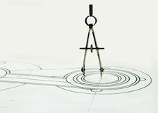 рисовать компасов Стоковая Фотография