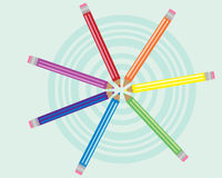 рисовать кругов Стоковое фото RF