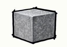 Рисовать куб Стоковое Фото