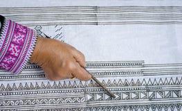 Рисовать на ткани Стоковые Изображения