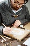 Рисовать на отдыхе стоковое изображение rf