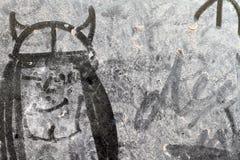 Рисовать на пакостном окне Стоковое Фото