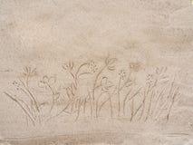Рисовать на песке Стоковое Изображение RF