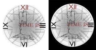 Рисовать на татуировка или время свечи и часов футболки стоковые изображения rf