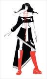 рисовать одежд Стоковые Изображения RF