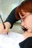 рисовать предназначенный для подростков Стоковое Фото