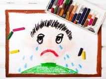 Рисовать: плача мальчик иллюстрация вектора