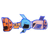 Рисовать синь акварели детей спутниковую Стоковые Изображения