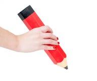 Рисовать с большим карандашем Стоковая Фотография RF
