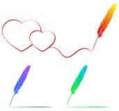 Рисовать с пером цвета Стоковые Фотографии RF