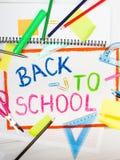 Рисовать с словами & x22; назад к school& x22; Стоковое фото RF