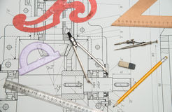 рисовать технический Стоковая Фотография RF