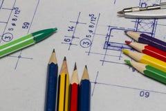 рисовать технический стоковое изображение rf