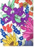 рисовать флористический Стоковые Фото