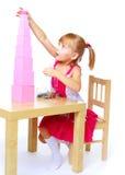 рисует девушку немного Стоковые Фотографии RF