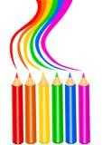 рисуйте радугу Стоковое Фото