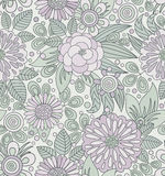 Рисуночная безшовная картина в мягких цветах Стоковое Изображение RF