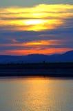 рисуночный заход солнца Стоковые Изображения RF