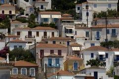 Рисуночный остров Poros в заливе Saronic Стоковая Фотография RF