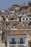 Рисуночный остров Poros в заливе Saronic Стоковые Фотографии RF
