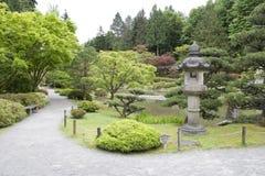 Рисуночный японский сад Стоковое Изображение RF