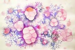 Рисуя абстрактные ветви с терниями Стоковые Изображения