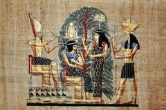 рисуя египетский papyrus золота Стоковые Фото
