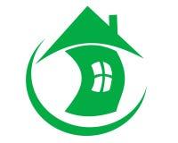 Рисуя здоровье дома логотипа в глобусе бесплатная иллюстрация
