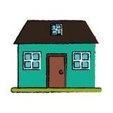 Рисуя зеленая домашняя классическая просторная квартира стиля бесплатная иллюстрация