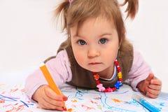 рисуя маленький princess Стоковое фото RF