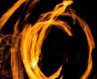 Рисуя огонь на ноче Стоковое Изображение RF
