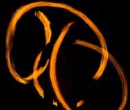 Рисуя огонь на ноче Стоковые Фотографии RF