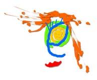Рисуя сторона девушки чертежа вектора, женщина иллюстрация штока