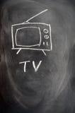 рисуя установленный tv Стоковая Фотография