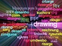 Рисуя multilanguage накалять концепции предпосылки wordcloud Стоковые Фотографии RF