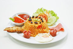 рис американской еды зажаренный тайский Стоковое Изображение