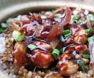 рис бака глины цыпленка Стоковое Фото