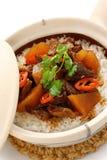 рис бака кухни глины говядины китайский Стоковая Фотография RF